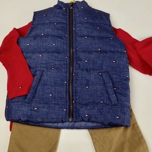Tommy Hilfiger Puffer Vest Hoody Joggers Set NWT